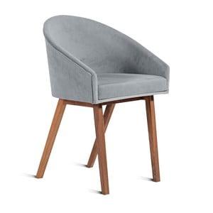 Šedá židle Charlie Pommier U