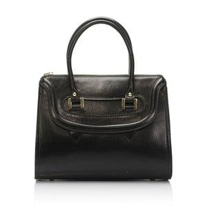 Černá kožená kabelka Lisa Minardi Calf