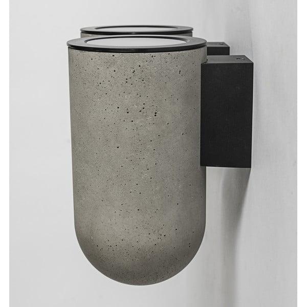 Nástěnná lampa PEI, betonová