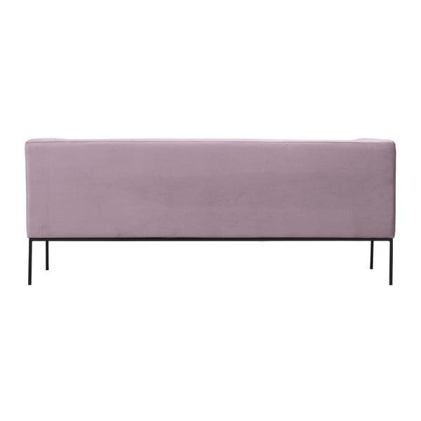 Světle růžová sametová třímístná pohovka Windsor & Co Sofas Neptune