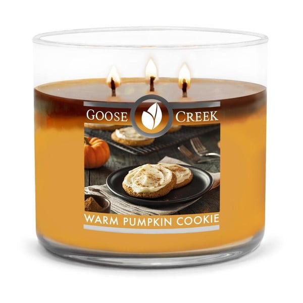 Świeczka zapachowa w szklanym pojemniku Goose Creek Warm Pumpkin, 35 godz. palenia