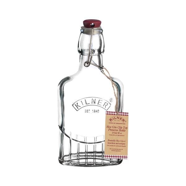 Láhev na likér s klipem Kilner Gin, 0,25 l