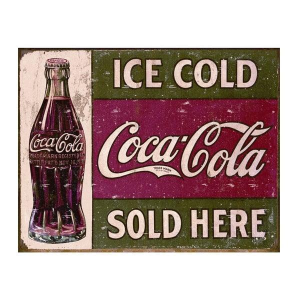 Plechová cedule Ice Cold I, 30x40 cm