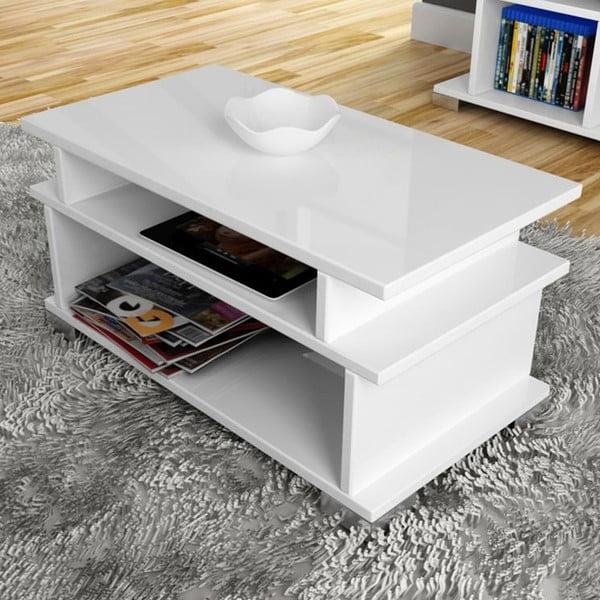 Konferenční stolek Gala White