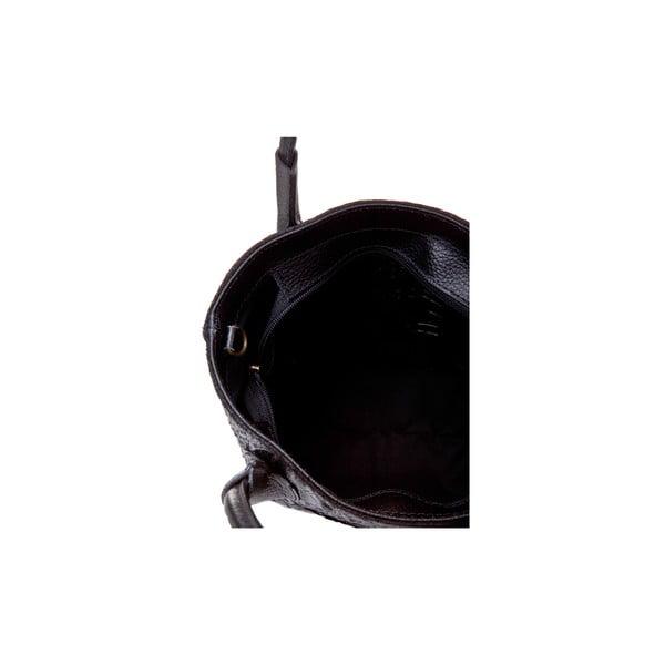 Černá kožená kabelka Massimo Castelli Laurita