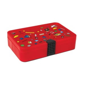 Červený úložný box s přihrádkami LEGO® Iconic