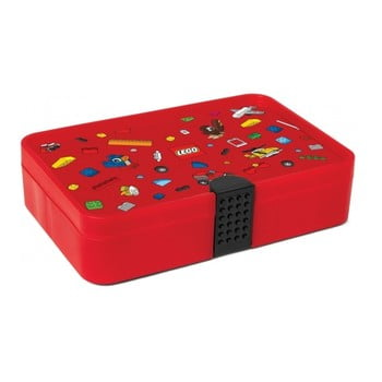 Cutie pentru gustare cu compartimente LEGO® Iconic, roșu de la LEGO®