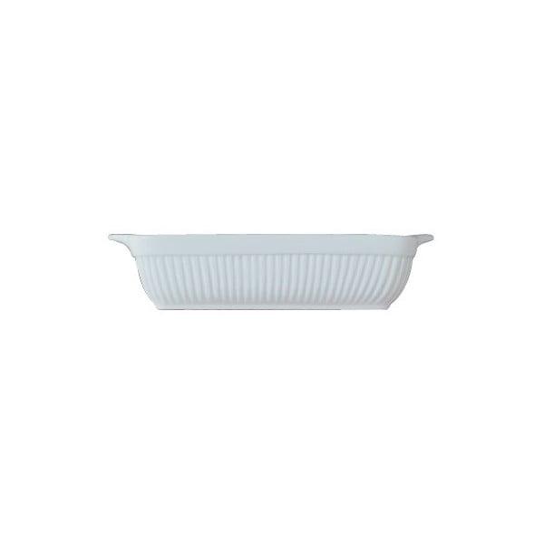 Bílá kameninová zapékací mísa BergHOFF Bianco, 38 x 31 cm