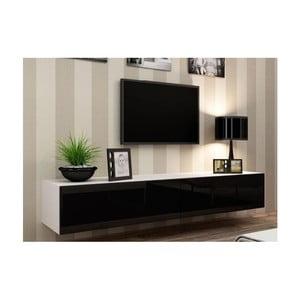 TV stolek Igo, černá/bílá