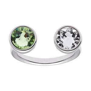 Inel cu Swarovski cristal GemSeller Helix, cristal verde