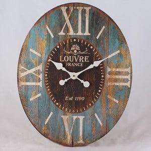 Dřevěné hodiny Louvre