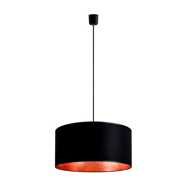 Černoměděné závěsné svítidlo Bulb Attack Tres, ⌀ 50cm