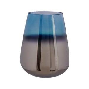 Modrá skleněná váza PT LIVING Oiled, výška 18 cm