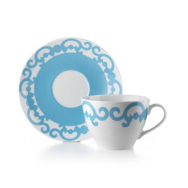 Hrnek s talířkem Arabesco Blue