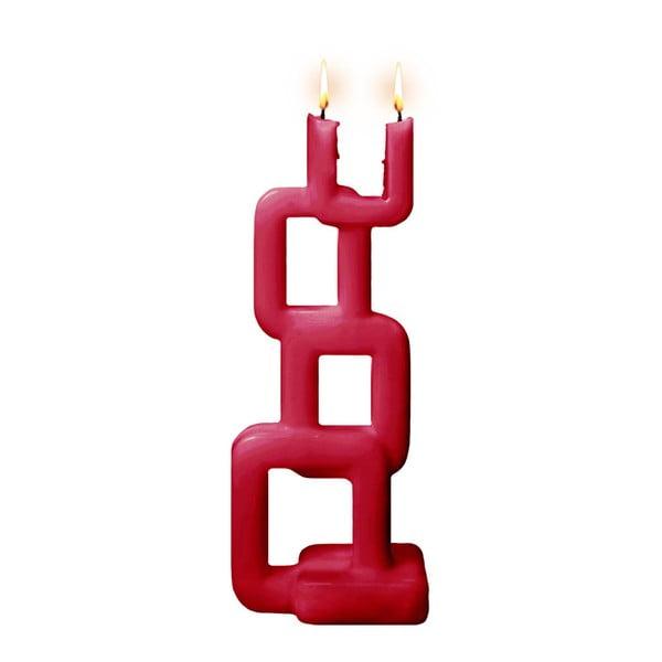 Červená svíčka Alusi Tara, 8hodin hoření