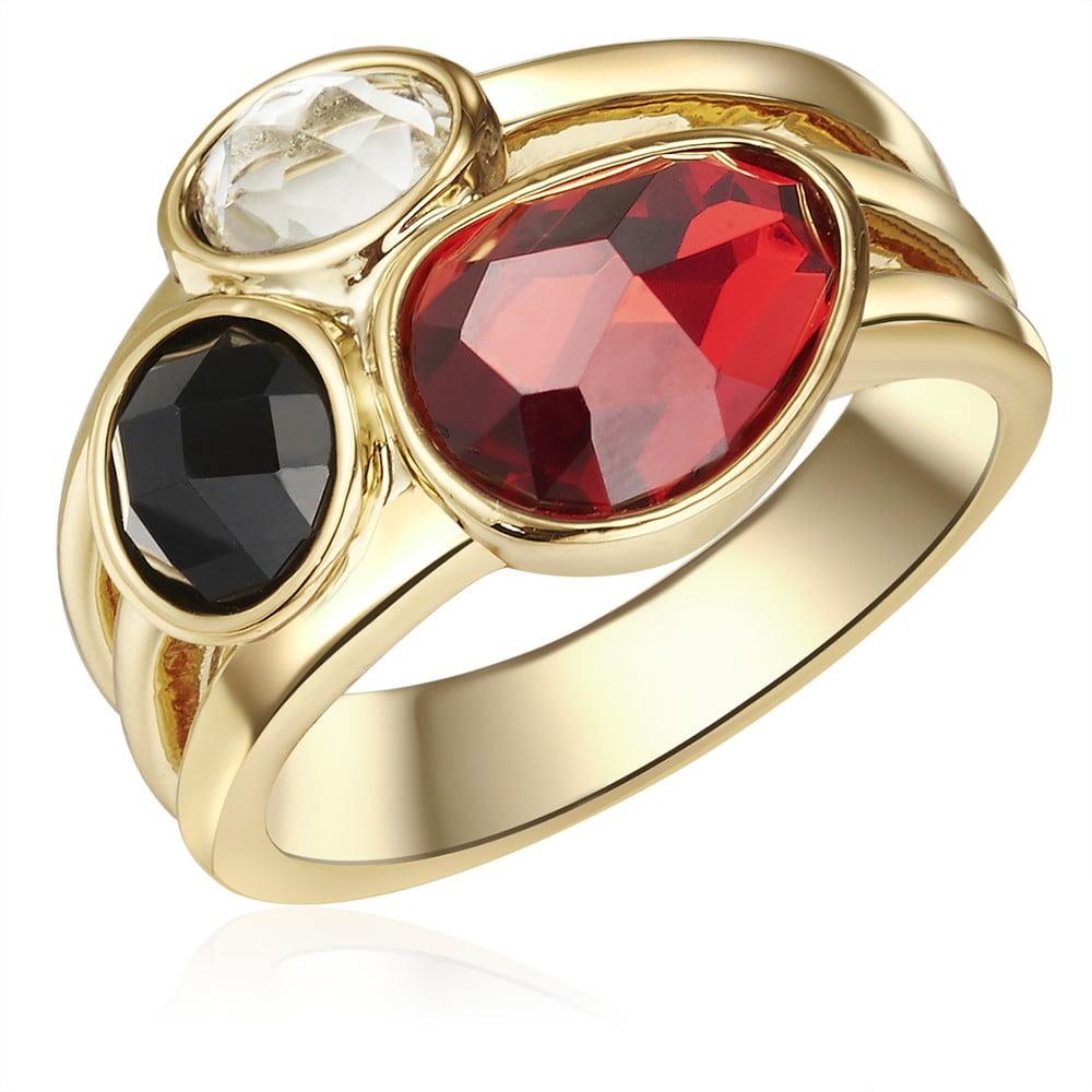 Dámský prsten zlaté barvy Tassioni Queen, 58