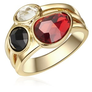 Dámský prsten zlaté barvy Tassioni Queen, 60
