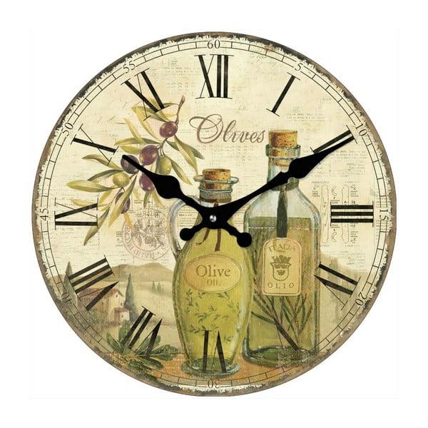 Skleněné hodiny Olivy, 34 cm
