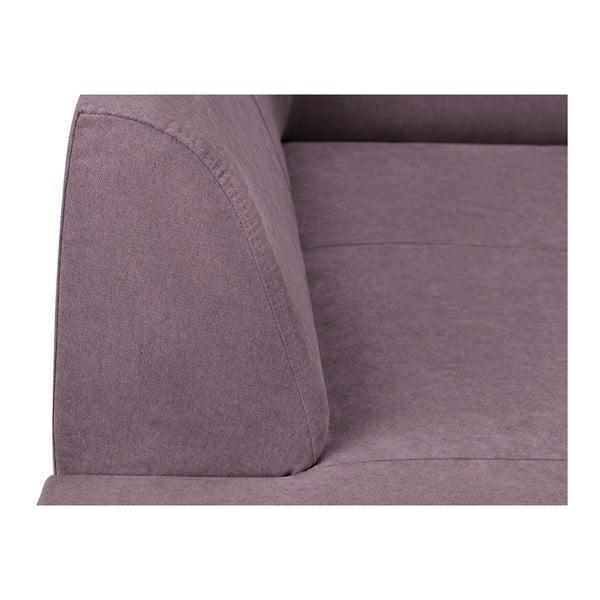 Fialová rohová rozkládací pohovka s úložným prostorem Kooko Home XL Left Corner Sofa Puro
