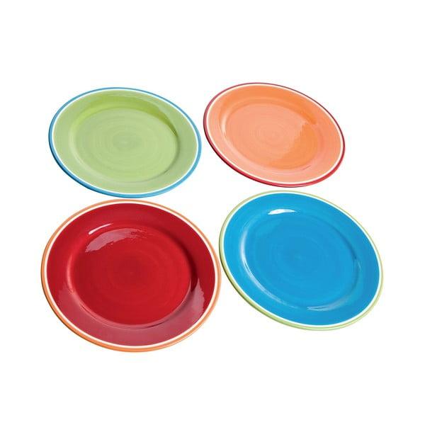 Sada 4 barevných talířů Brandani