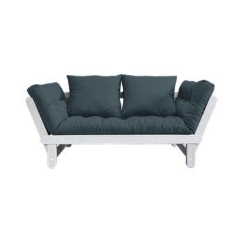 Canapea extensibilă Karup Design Beat White, albastru petrol de la Karup Design