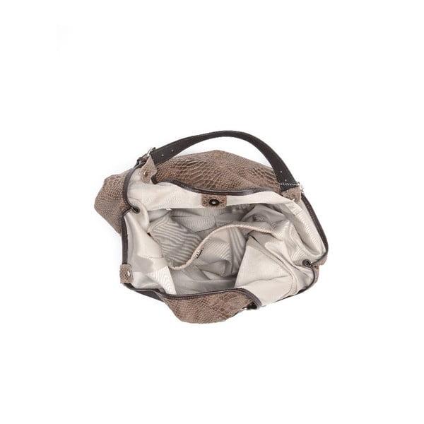 Kožená kabelka Carla Ferreri 887 Fango