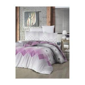 Lenjerie de pat cu pernă Adriana Lilac, 160 x 220 cm