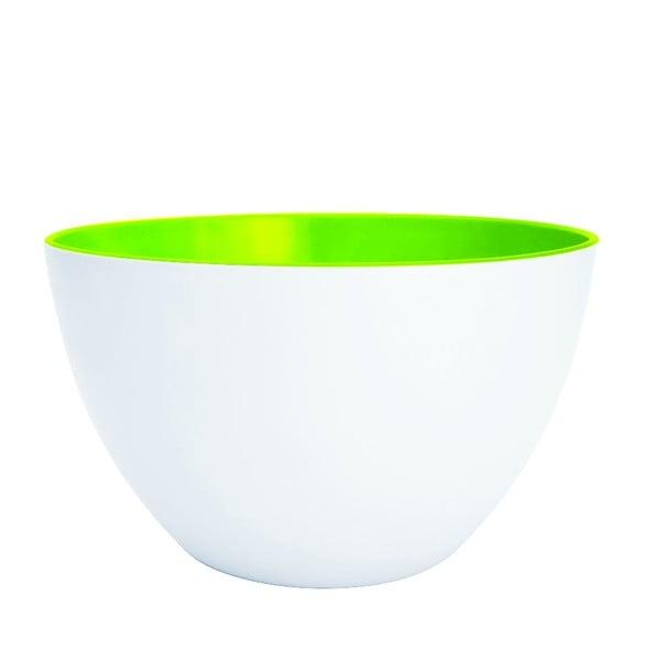 Dvoubarevná mísa Zak 18 cm, bílá/zelená