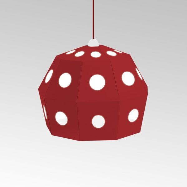 Kartonové svítidlo Uno Fantasia B Red, s červeným kabelem