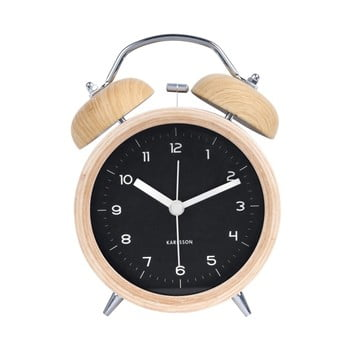 Ceas alarmă Karlsson Classic, crem – negru de la Karlsson