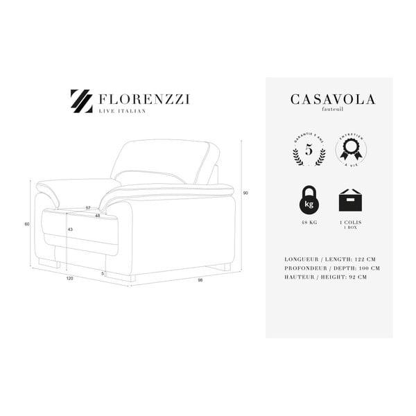 Černé křeslo Florenzzi Casavola