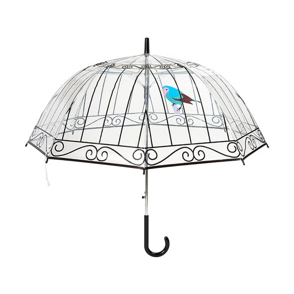 Transparentní holový deštník Birdcage, ⌀84cm