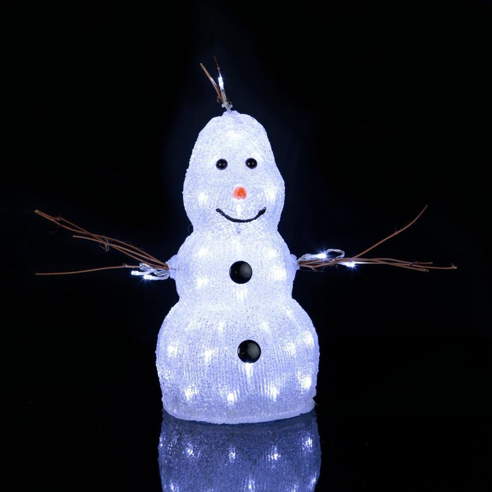 Svítící dekorace Snowman, výška 38 cm