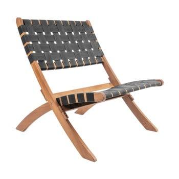 Scaun din lemn de salcâm Leitmotiv Weave, negru de la Leitmotiv