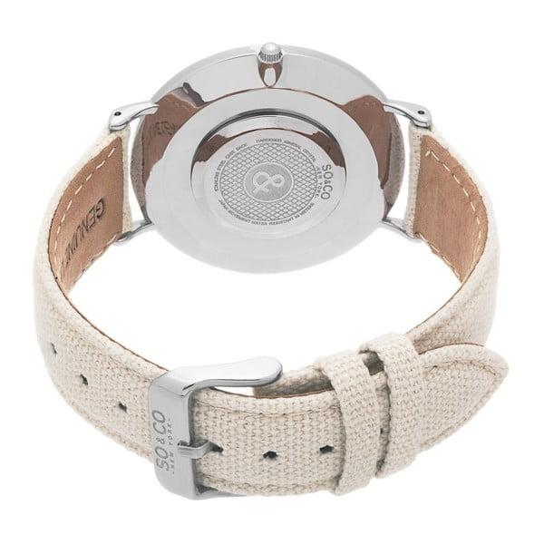 Pánské hodinky SoHo Club Silver/beige