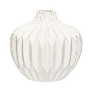 Bílá kameninová váza Hübsch Kjeld, výška16cm