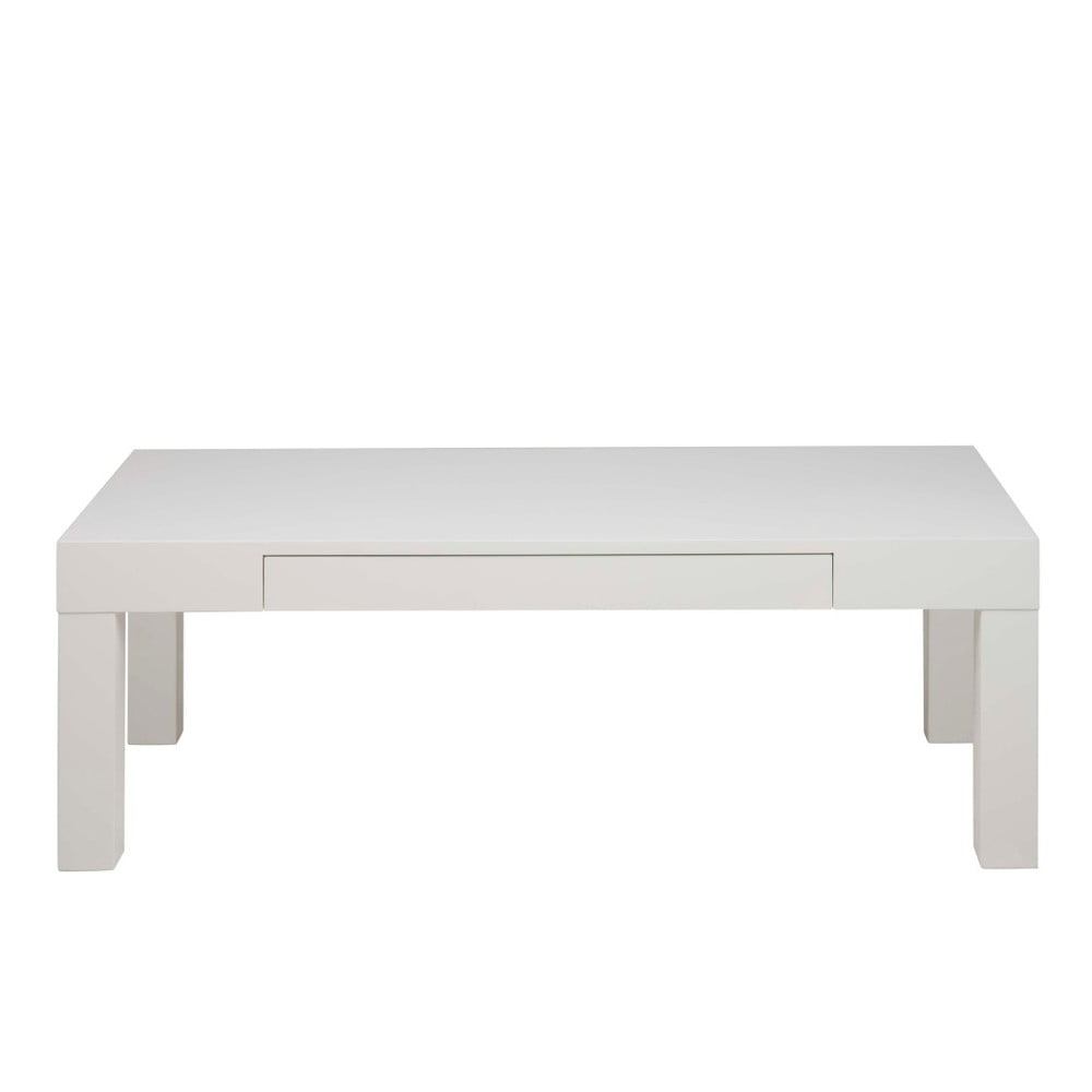 Bílý konferenční stolek se zásuvkou Actona Angela
