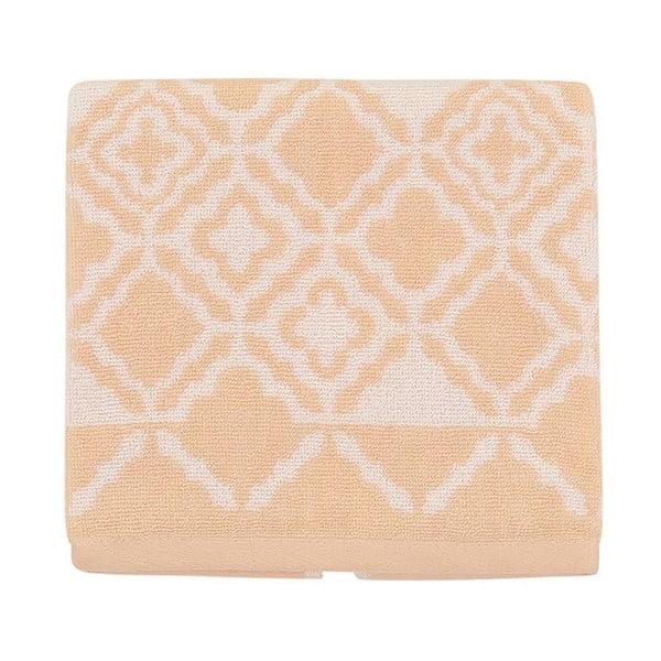 Jasnopomarańczowy ręcznik bawełniany Mozaic, 50x90 cm