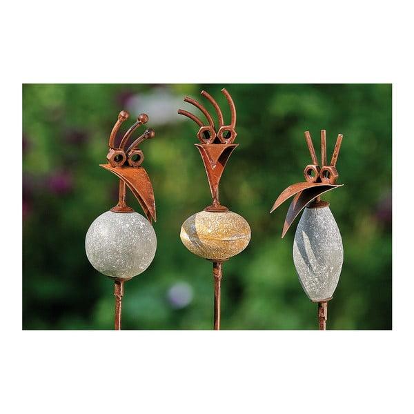 Sada 3 zapichovacích zahradních dekorací Birds