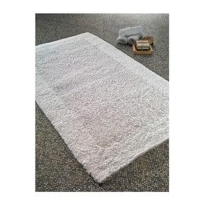 Bílá bavlněná předložka do koupelny Confetti Natura Heavy, 70 x 120 cm