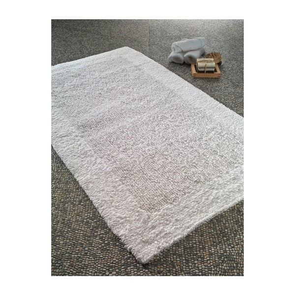 Biela predložka do kúpeľne Confetti Natura Heavy, 70×120cm