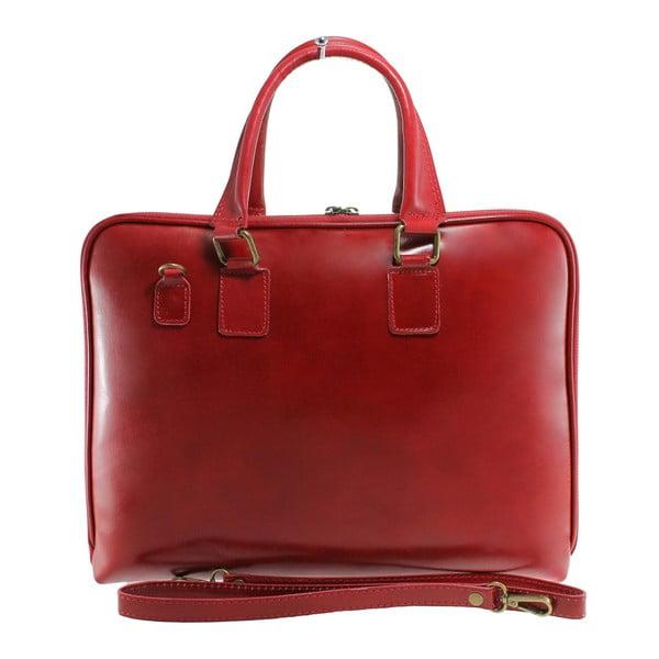 Červená kožená taška Camilla