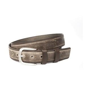 Hnědý kožený pánský pásek Trussardi, délka 115 - 130 cm