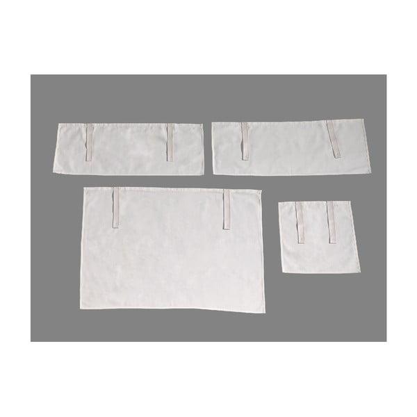 4-dielny set bielych závesov Vipack Charlotte
