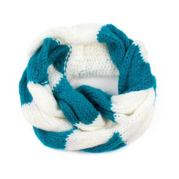 Fular circular Art of Polo Ruby, albastru-alb