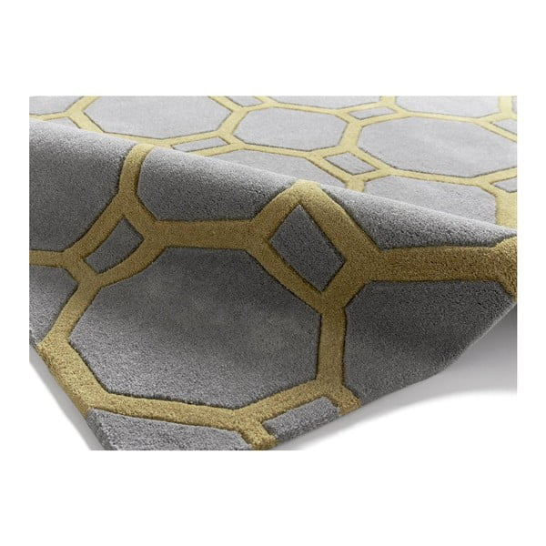 Koberec Tile 150x230 cm, šedožlutý