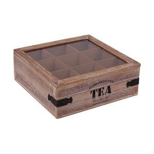 Cutie pentru pliculețe de ceai Tea Square Brown