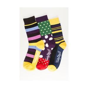 Sada 3 párů unisex ponožek Funky Steps Fronia, velikost39/45