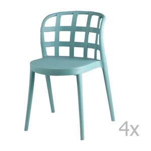 Set 4 scaune sømcasa Gina, verde mentol