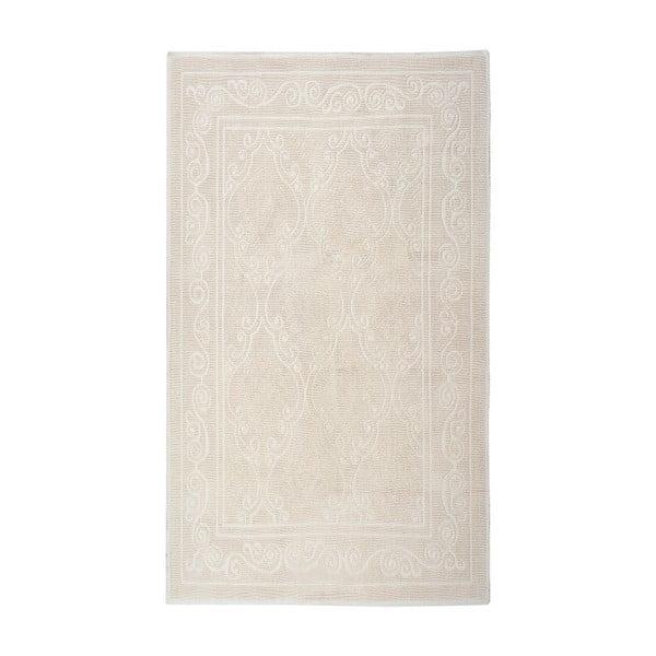 Krémový  bavlněný koberec Floorist Omanli, 80x300cm